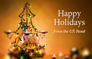 Happy Holidays and Seasons Greetings from the UX Booth