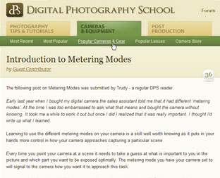 Digital Photography School Navigation