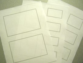 My paper wireframe templates.