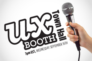 UX Booth Town Hall: Wednesday, September 16th